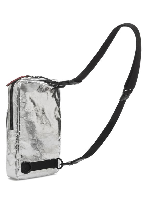 Мужская серебристая сумка через плечо
