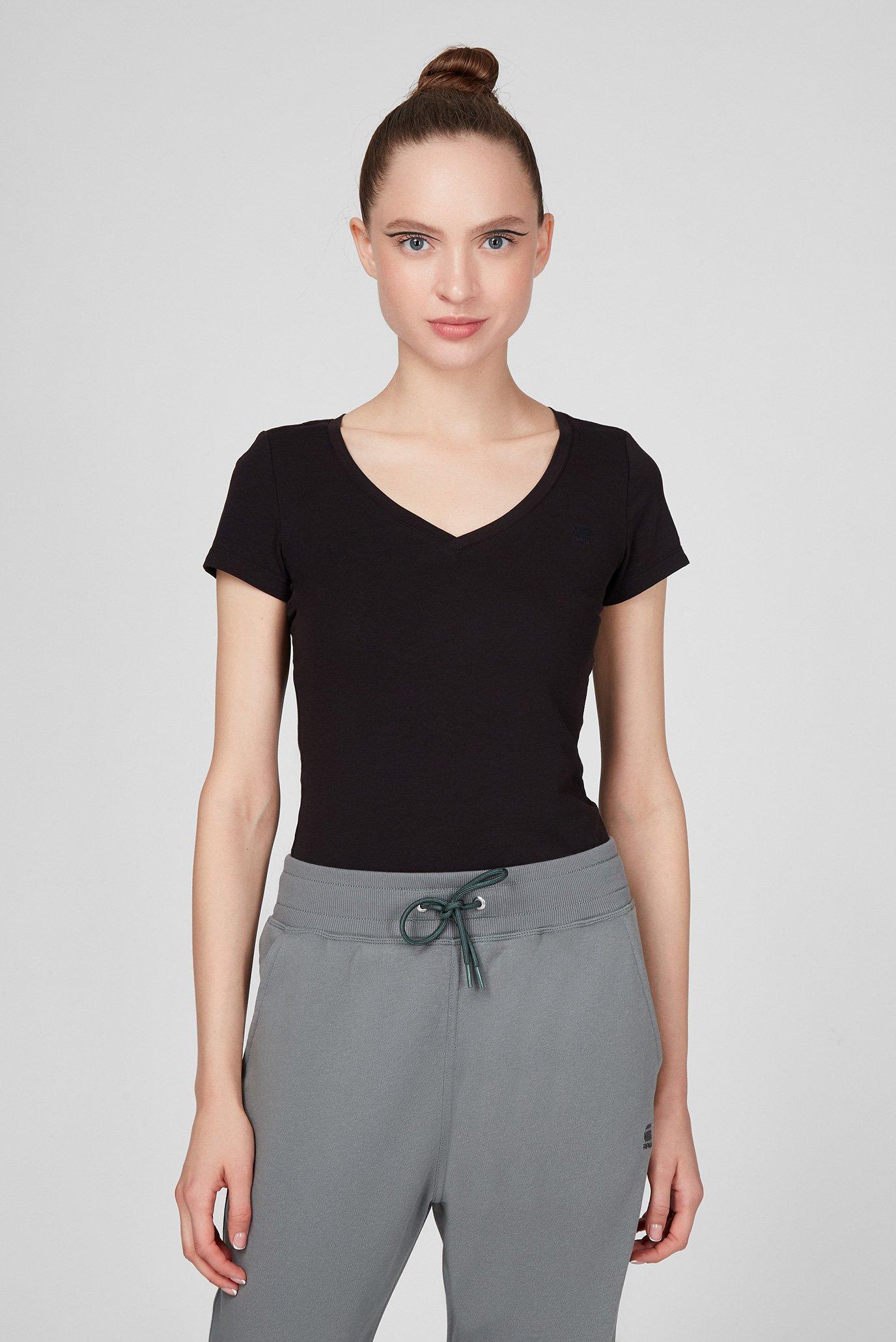 Женская черная футболка Base v t wmn cap sl 1