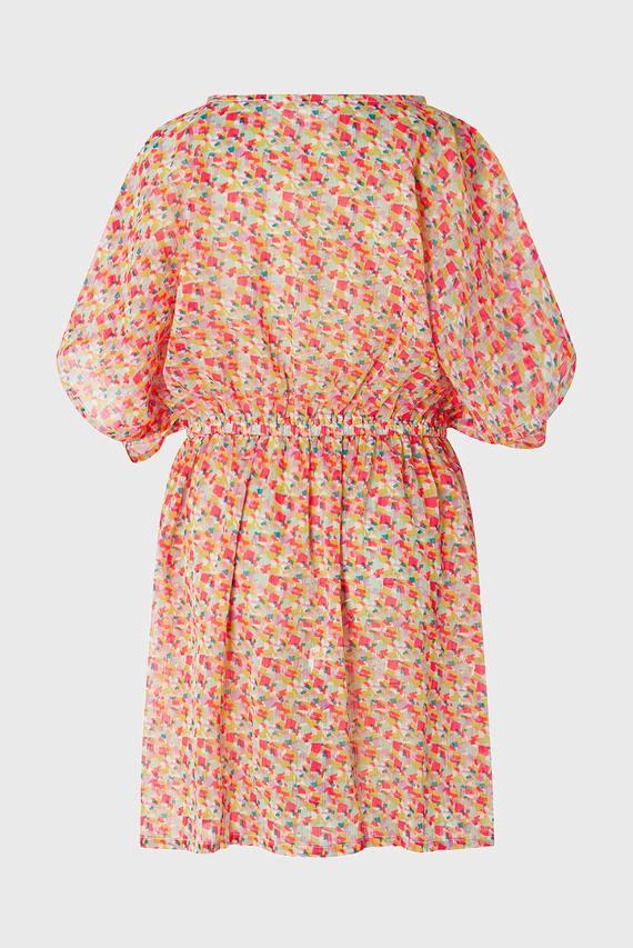 Детское розовое платье GEO METALLIC PRINT
