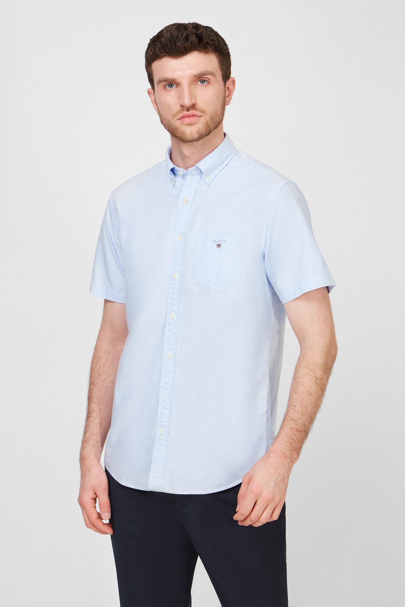 Мужская голубая рубашка REG OXFORD 1