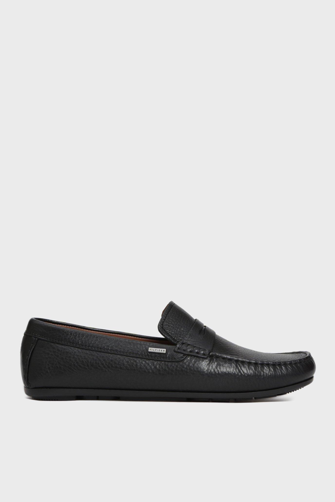 a0f0b9a92 Купить Мужские черные кожаные мокасины CLASSIC Tommy Hilfiger Tommy  Hilfiger FM0FM02111 – Киев, Украина. Цены в интернет магазине MD Fashion