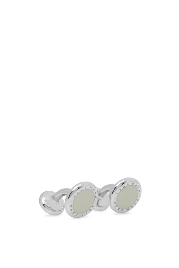 Мужские серебристые запонки