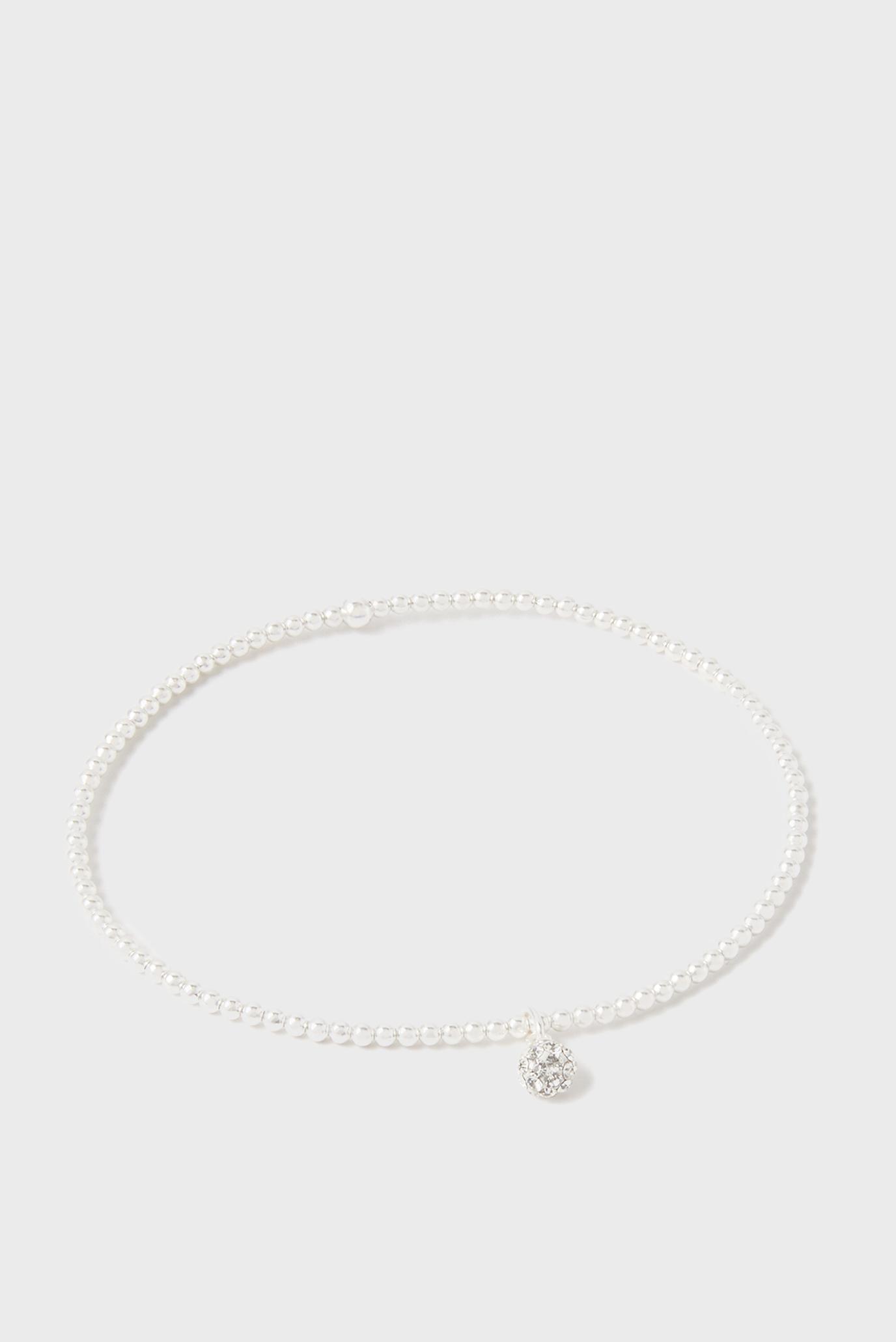 Жіночий срібний браслет ST PAVE BALL STRETCH 1