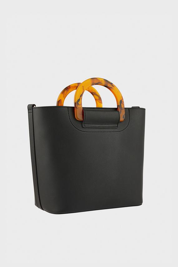 Женская черная сумка на плечо LUCY HANDHELD