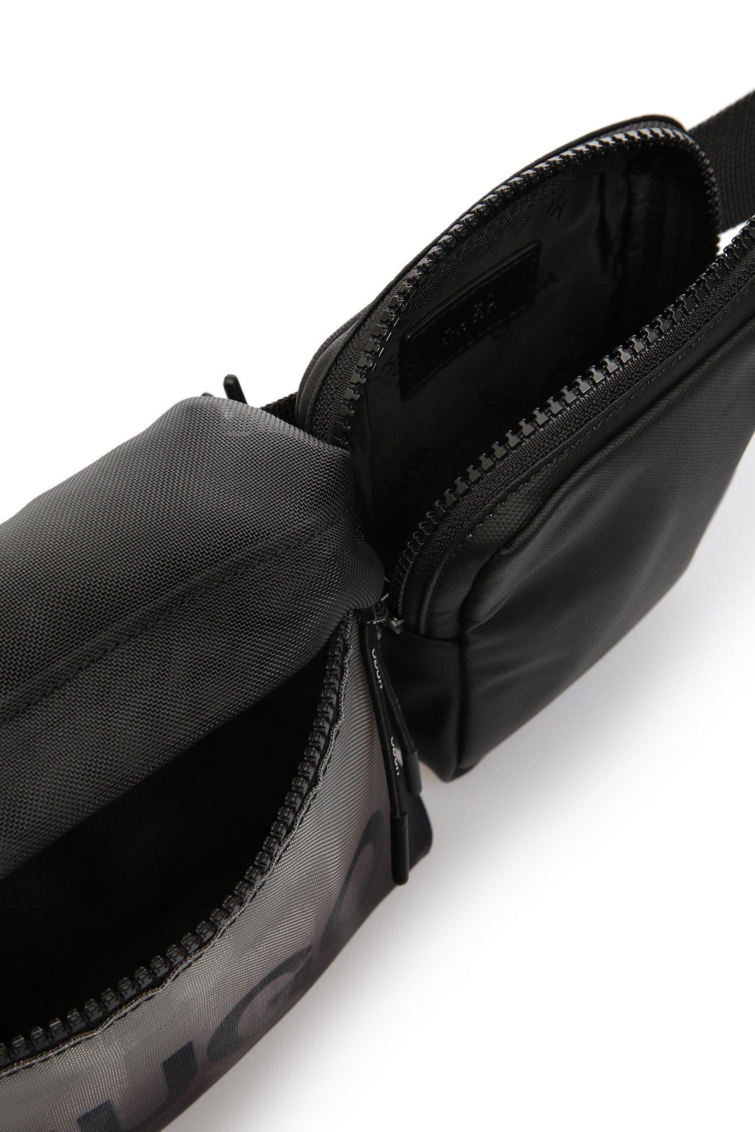 Мужская черная поясная сумка 2 в 1 HUGO