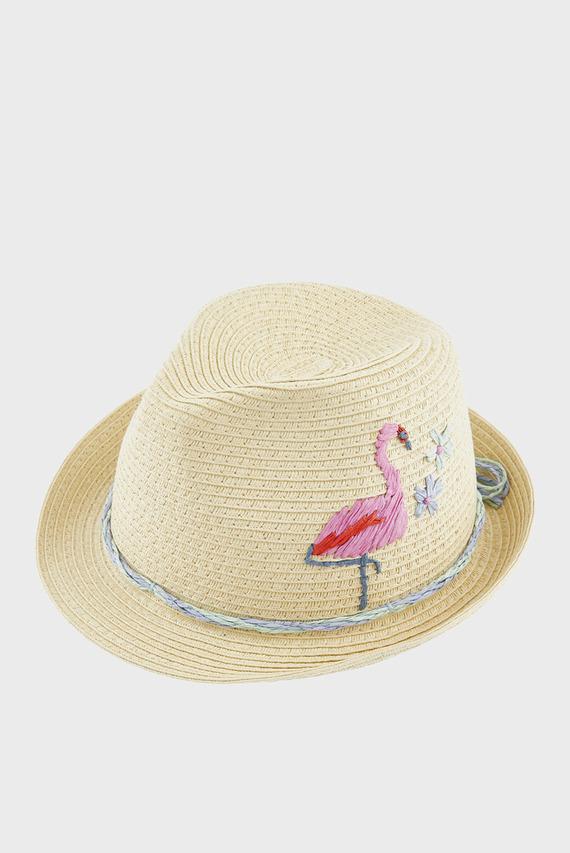 Детская бежевая шляпа FIONA FLAMINGO