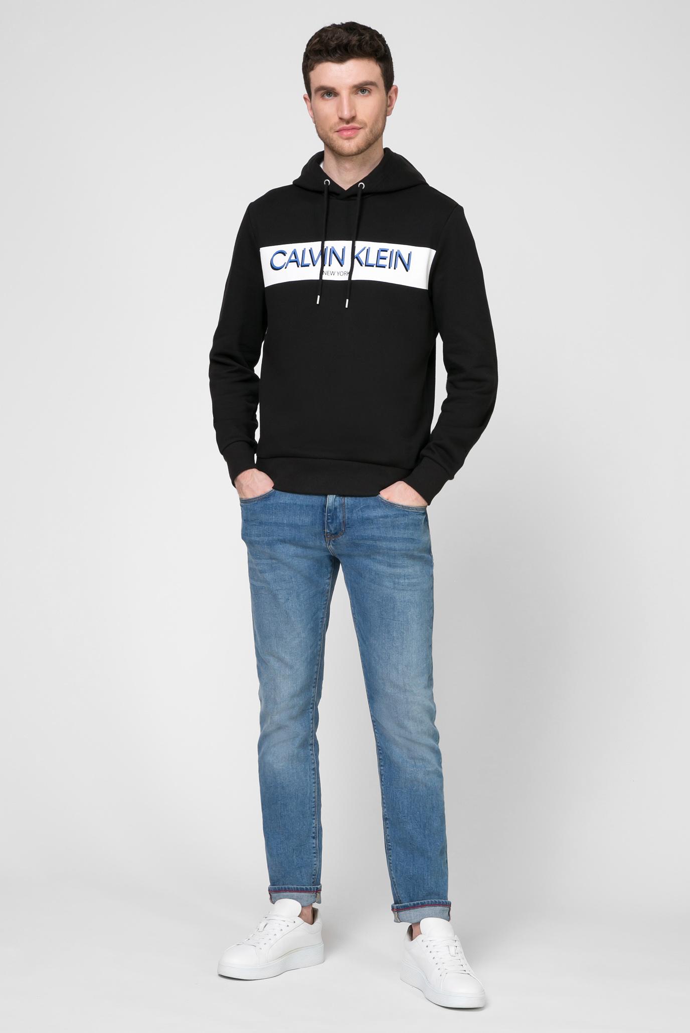 Мужское черное худи Calvin Klein