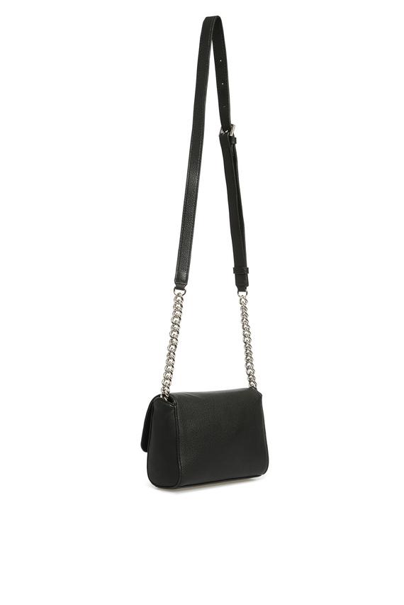 Женская черная сумка через плечо ALMA