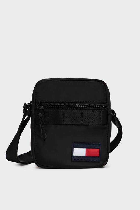 Мужская черная сумка через плечо TOMMY MINI REPORTER