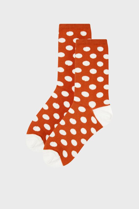 Женские коричневые носки Polka Dot Ankle Sock