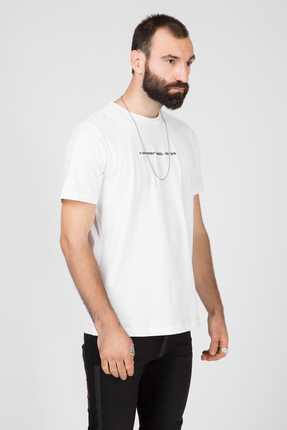 Мужская белая футболка T-JUST-COPY