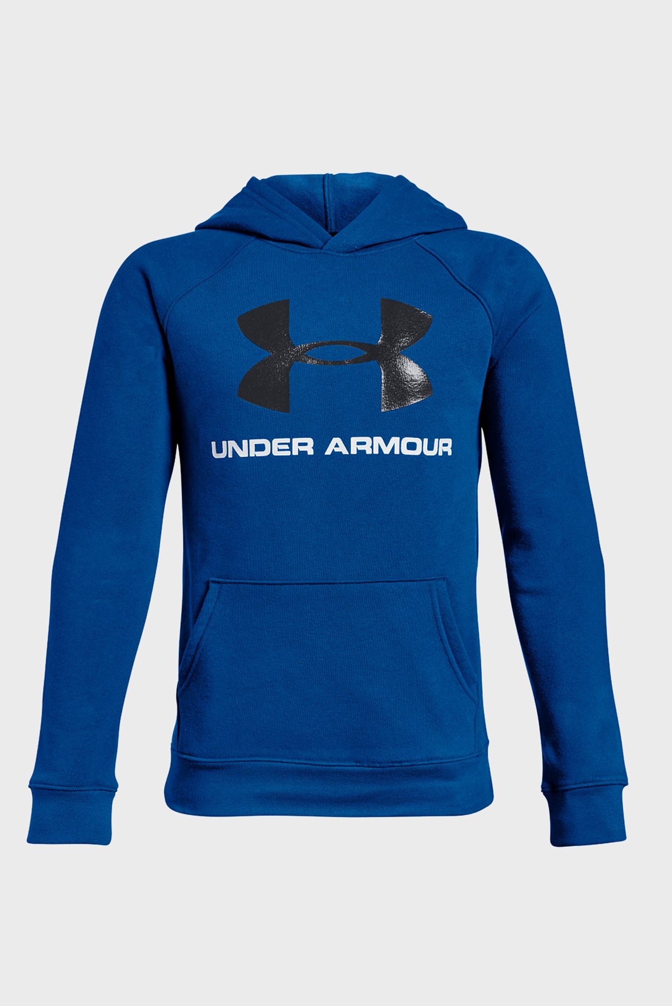 Дитяче синє худі Rival UA Logo Hoody 1