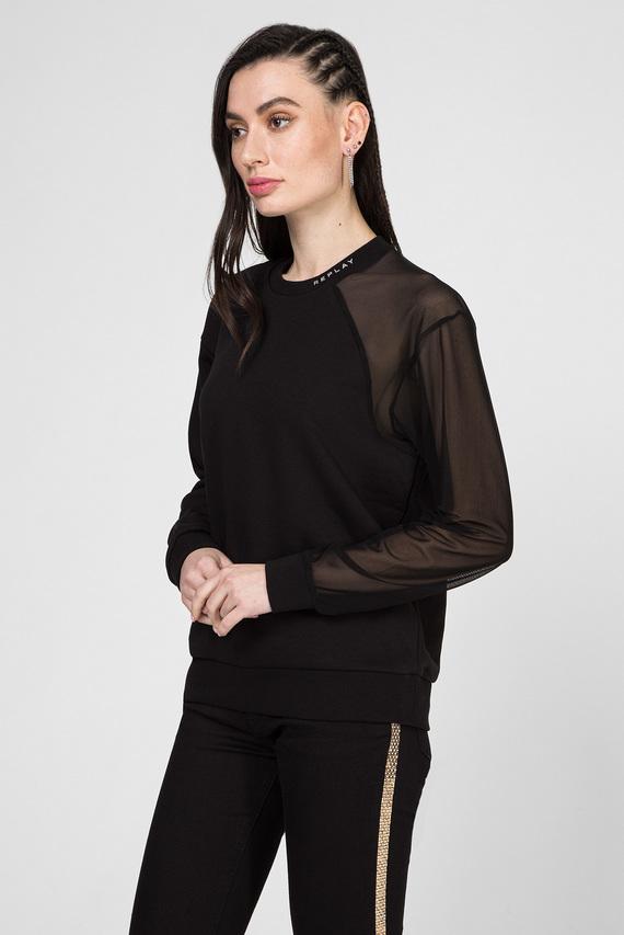 Женский черный свитшот