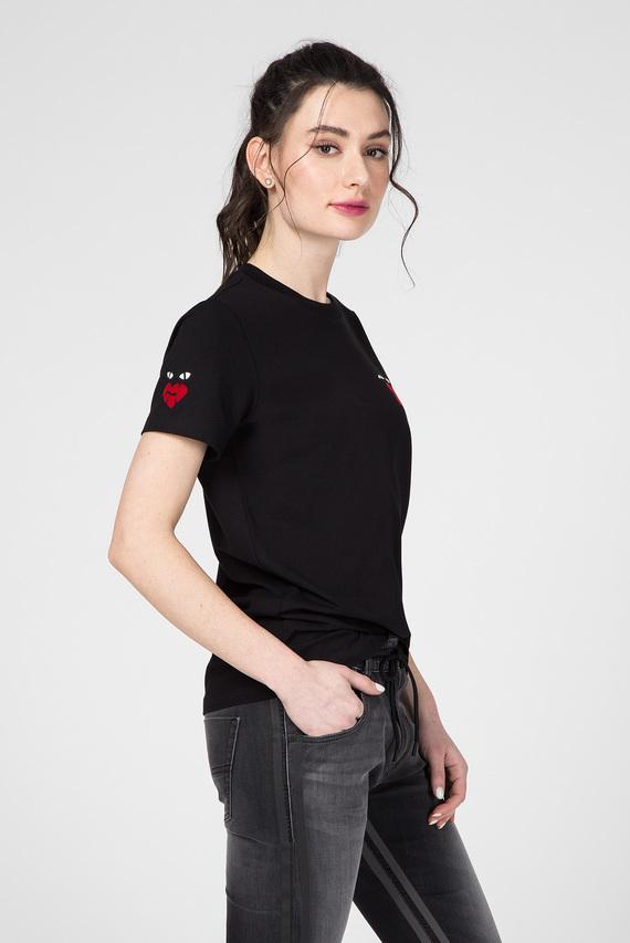 Женская черная футболка UFTEE-SILY-INT