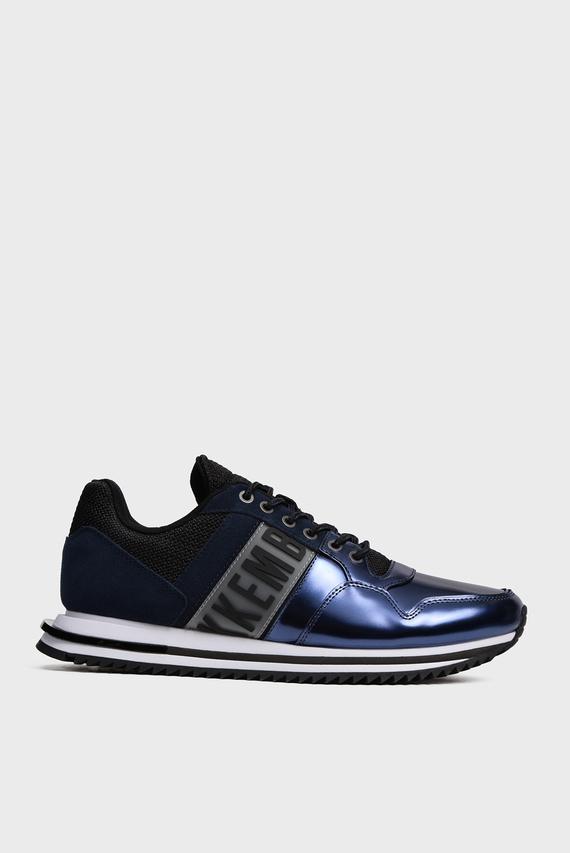 Мужские синие кожаные кроссовки HOVAN