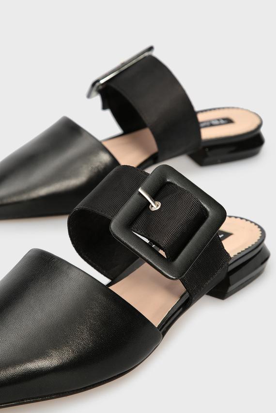 Женские черные кожаные мюли BORA BORA
