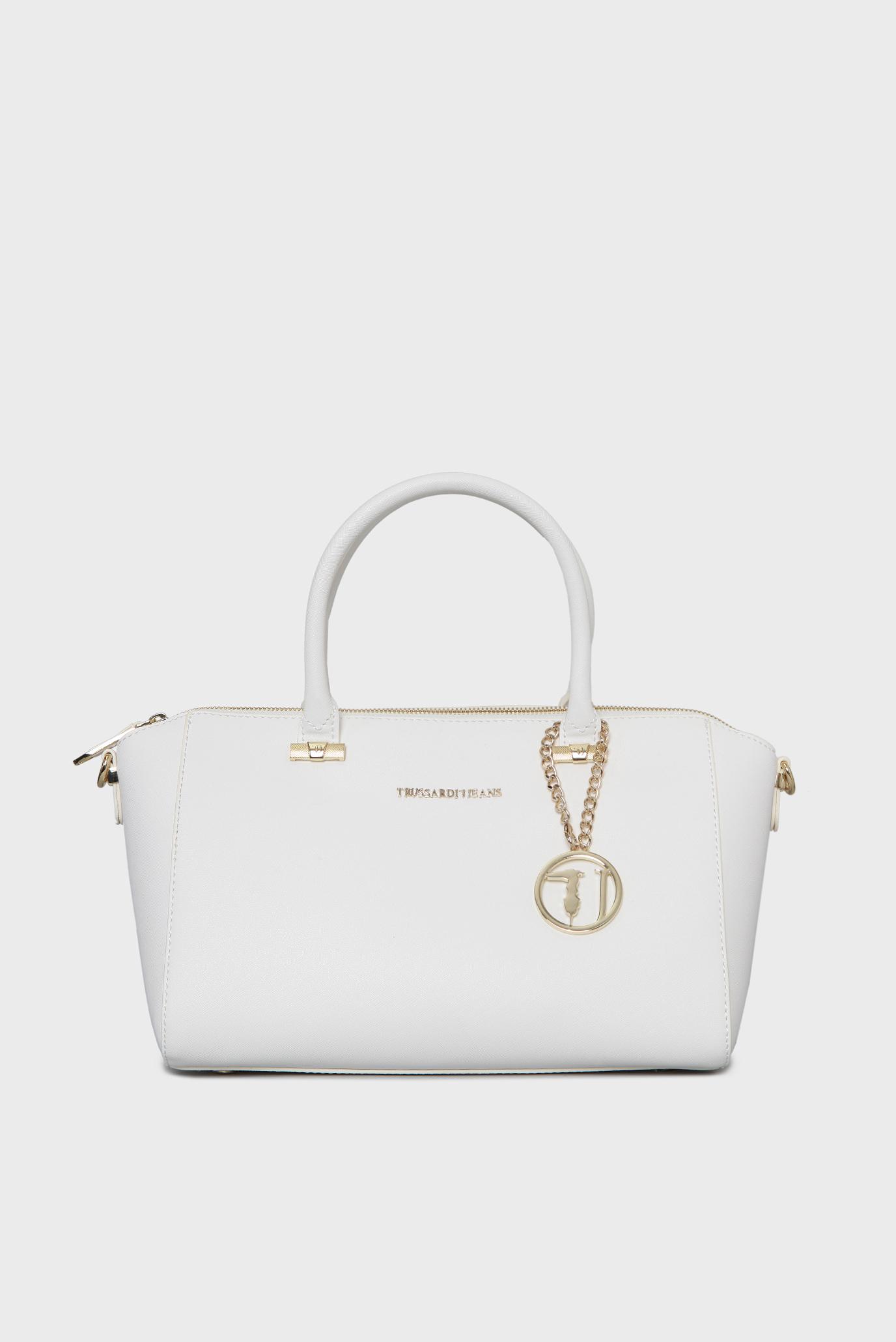 c50f7c456e86 Купить Женская белая сумка на плечо Trussardi Jeans Trussardi Jeans  75B493XX – Киев, Украина. Цены в интернет ...