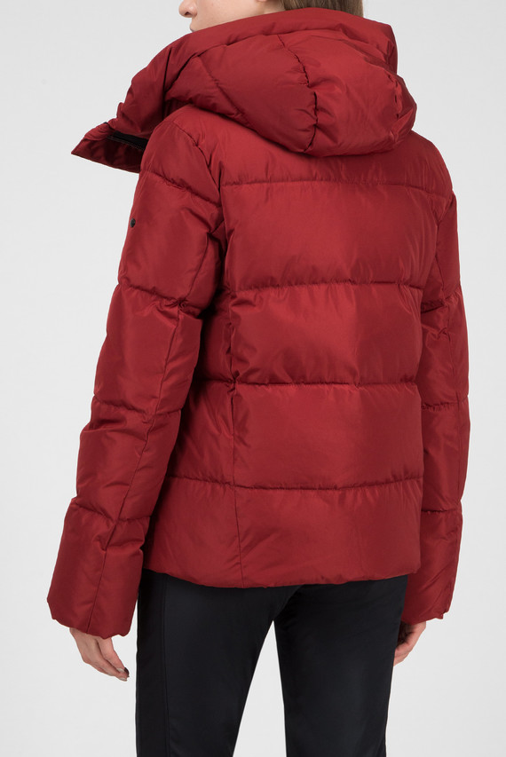 Женская красная пуховая лыжная куртка