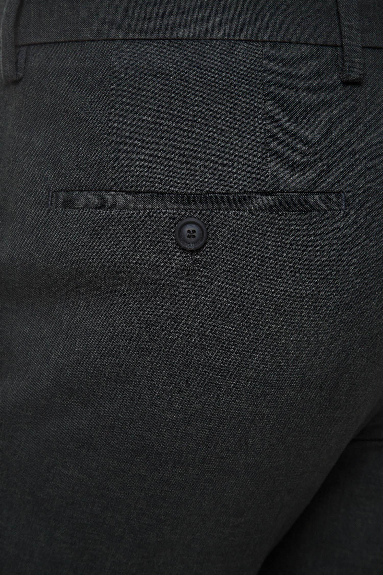 Мужские темно-зеленые шерстяные брюки BOSS