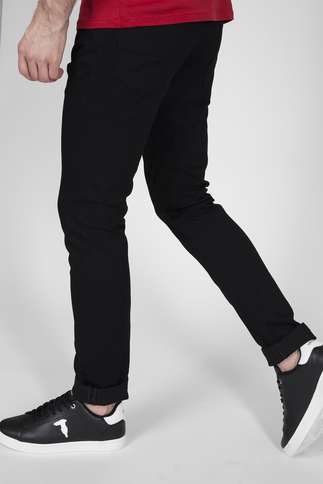 Мужские черные джинсы 370 EXTRA SLIM DENIM Trussardi Jeans