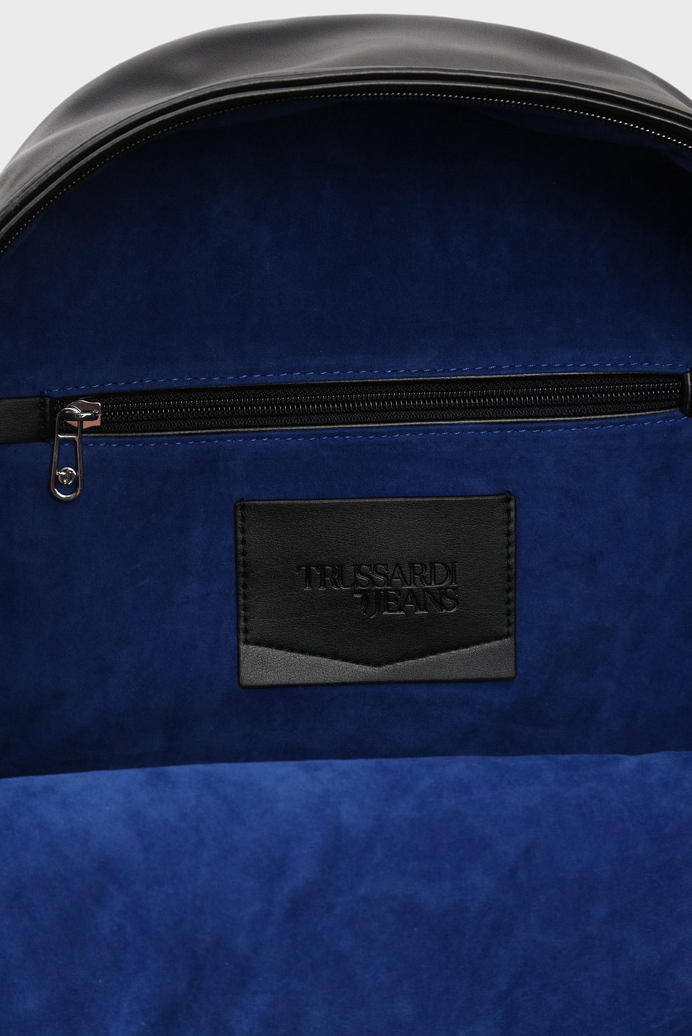 Мужской черный рюкзак TICI Trussardi Jeans