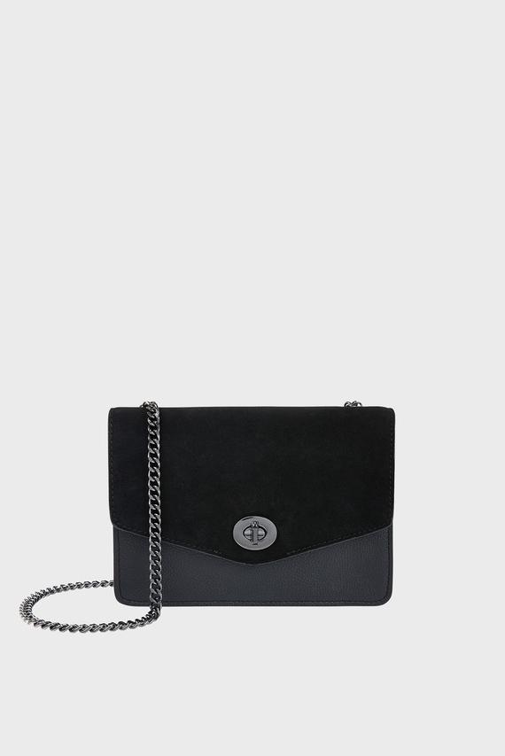 Женская черная сумка Leather Clara Mini F