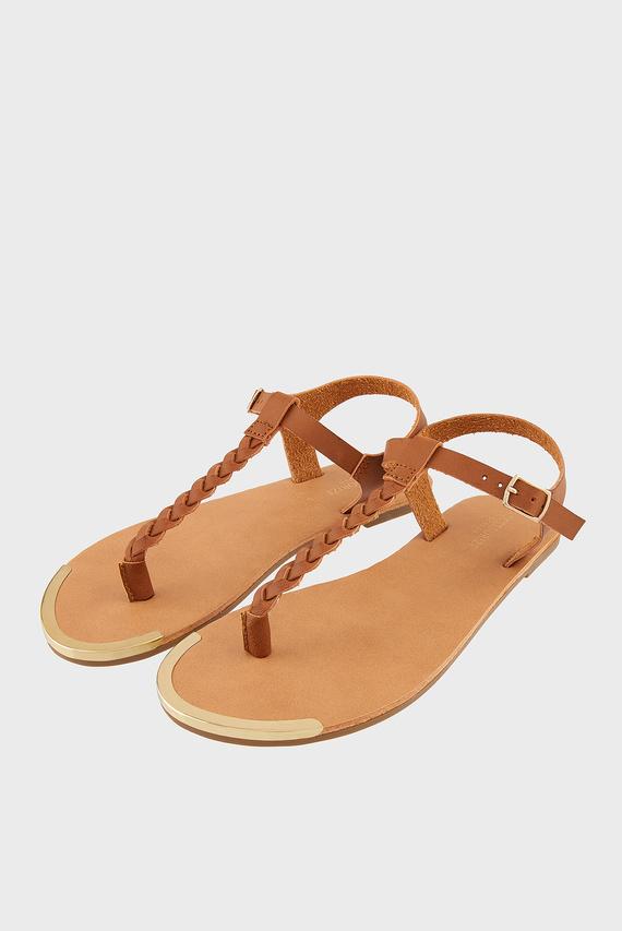 Женские коричневые сандалии PLAITED THONG