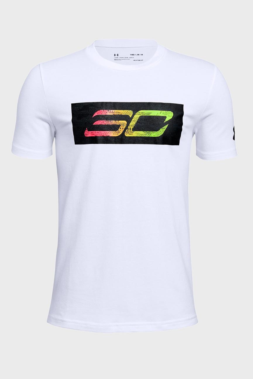 Детская белая футболка SC30 Logo SS Tee