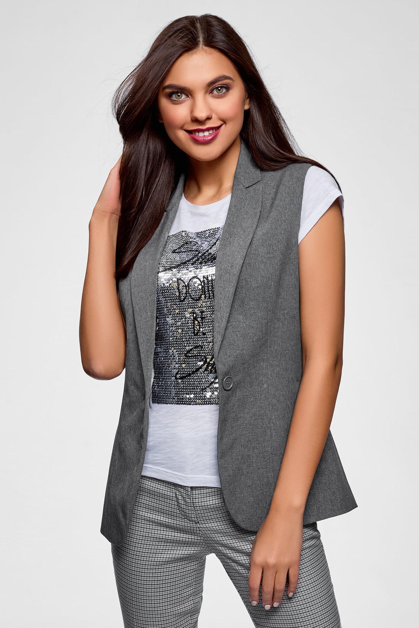 Купить Женский серый жилет Oodji Oodji 12300099-10B/14917/2500M – Киев, Украина. Цены в интернет магазине MD Fashion
