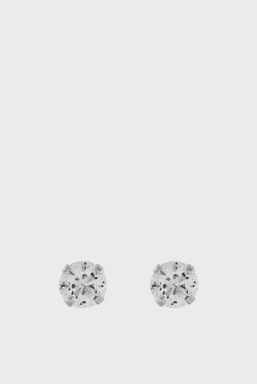 Женские серебряные серьги с цирконием ST SMALL BLING STUD