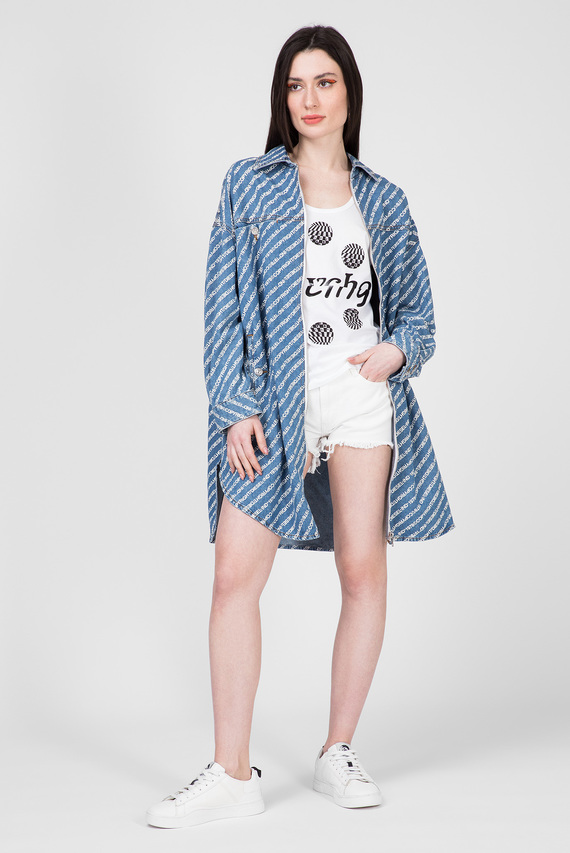Женское голубое джинсовое платье DE-SLYX