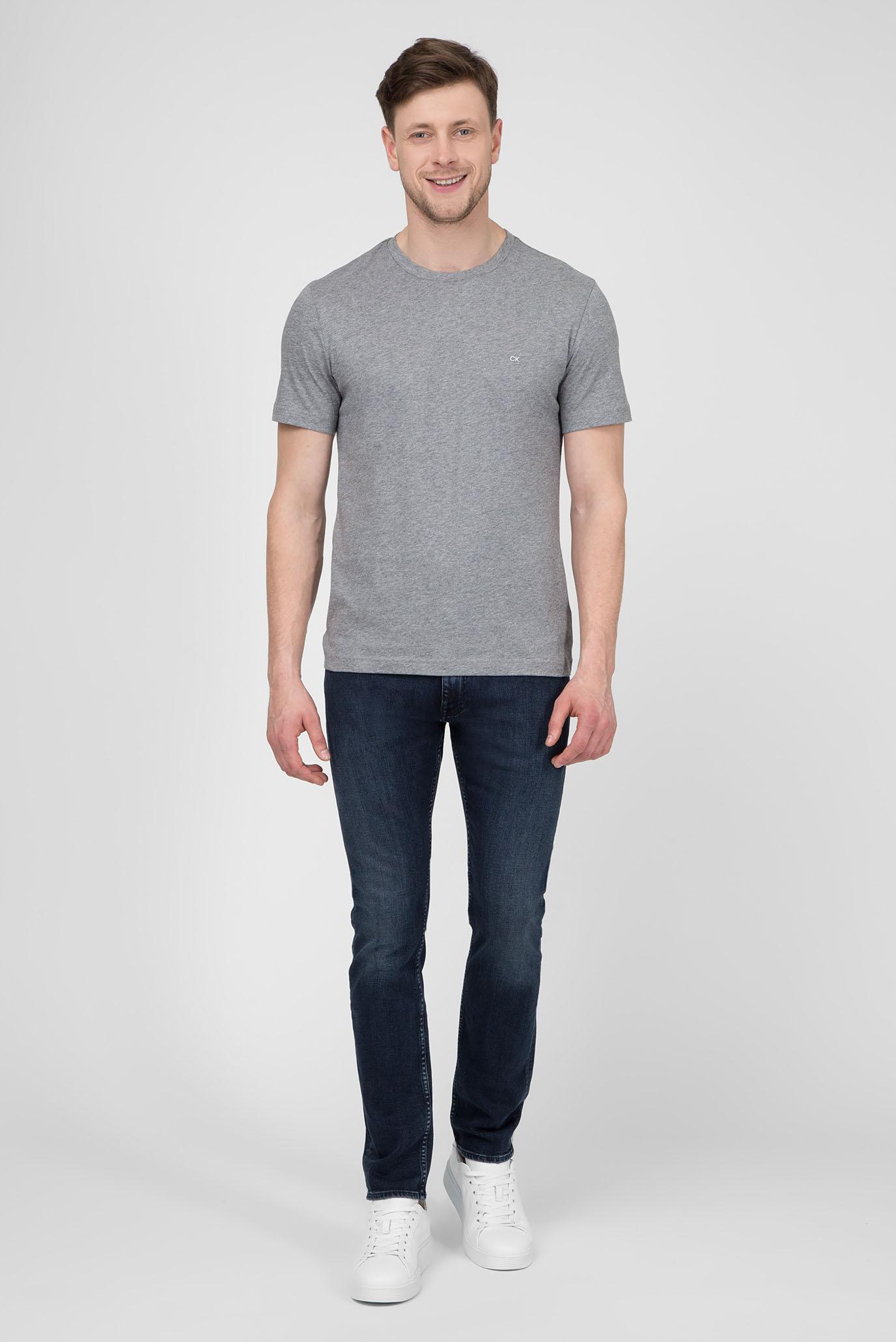 Мужская серая футболка Calvin Klein