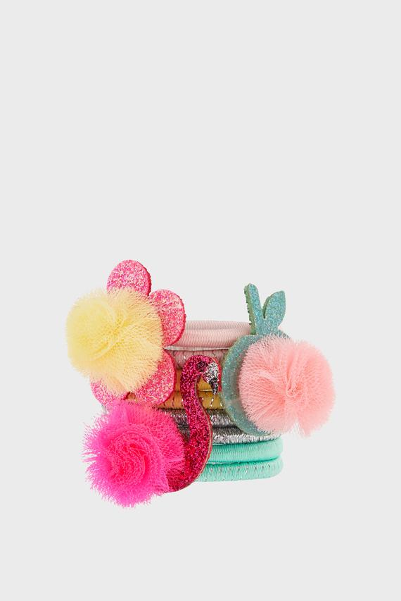 Детский набор резинок для волос POMPOM CHARACTER HAIR BAND SET