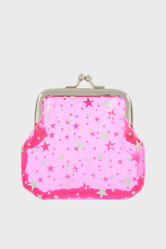 Детский розовый кошелек JELLY STAR COIN PURS