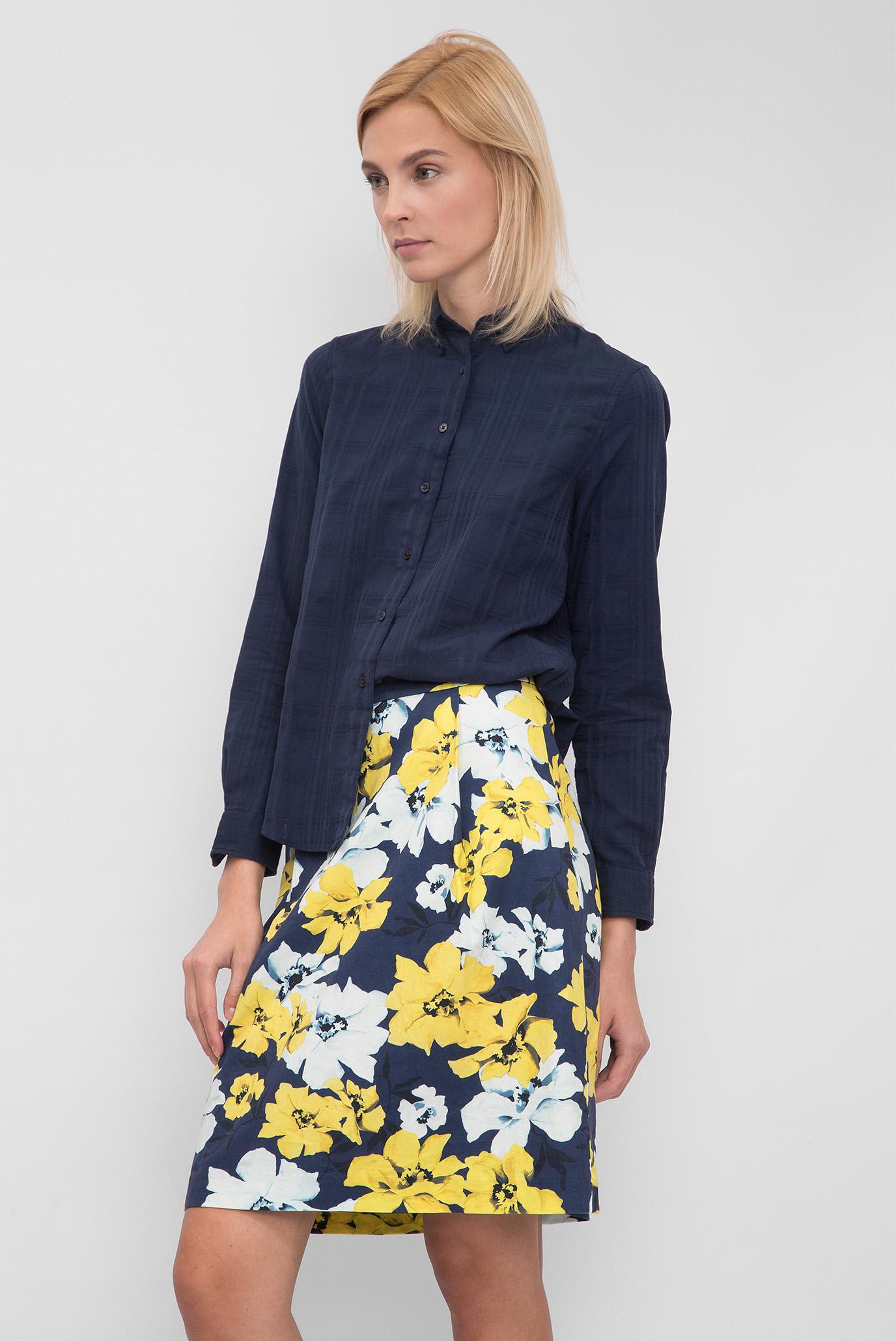 Купить Женская синяя рубашка Solid check shirt Gant Gant 432675 – Киев, Украина. Цены в интернет магазине MD Fashion