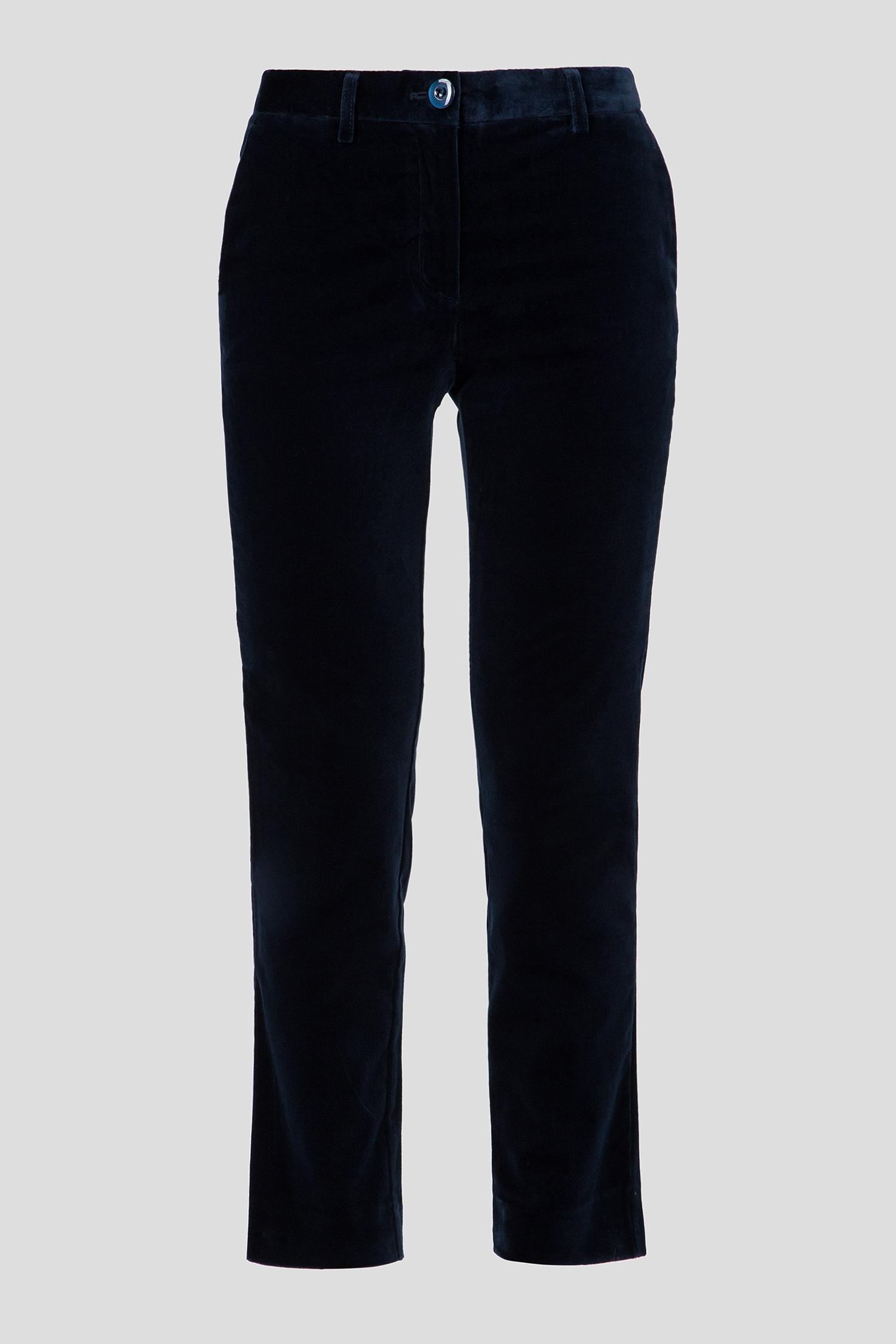 Женские синие бархатные брюки Skills & Genes
