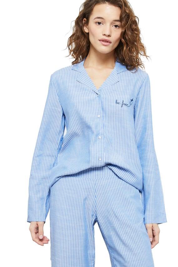 Женская синяя рубашка SIBIL