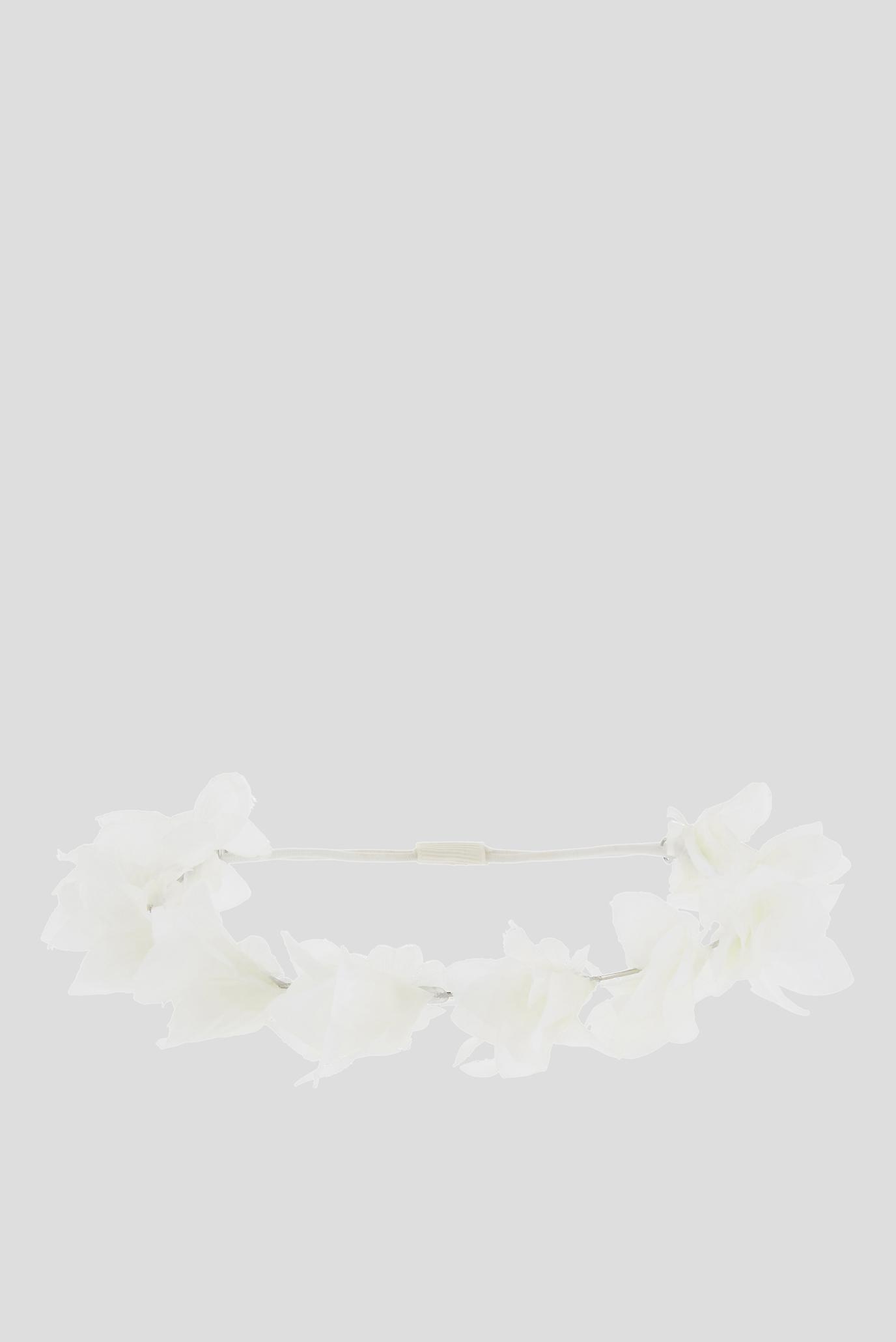 Дитяча біла пов'язка LAYER FLOWER GARLAND 1