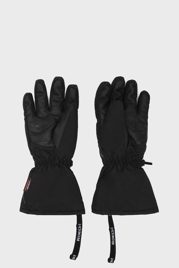 Детские черные лыжные перчатки