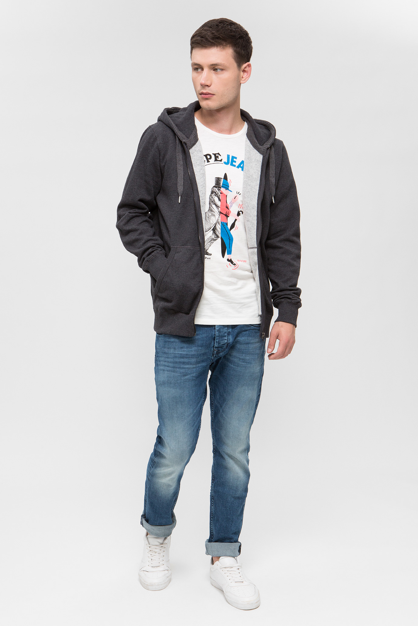 Купить Мужские синие джинсы CASH Pepe Jeans Pepe Jeans PM200124GG42 – Киев, Украина. Цены в интернет магазине MD Fashion