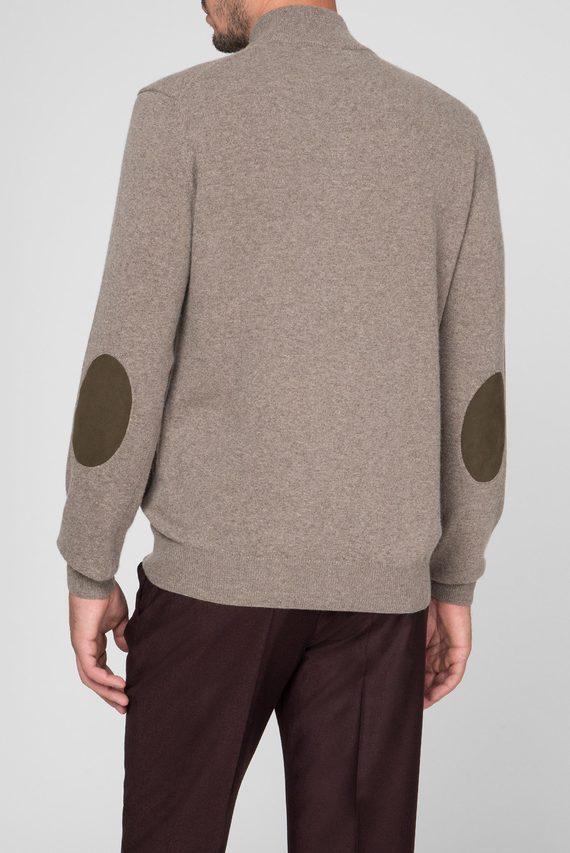 Мужской бежевый шерстяной свитер WOOL CASH MIX HZIP