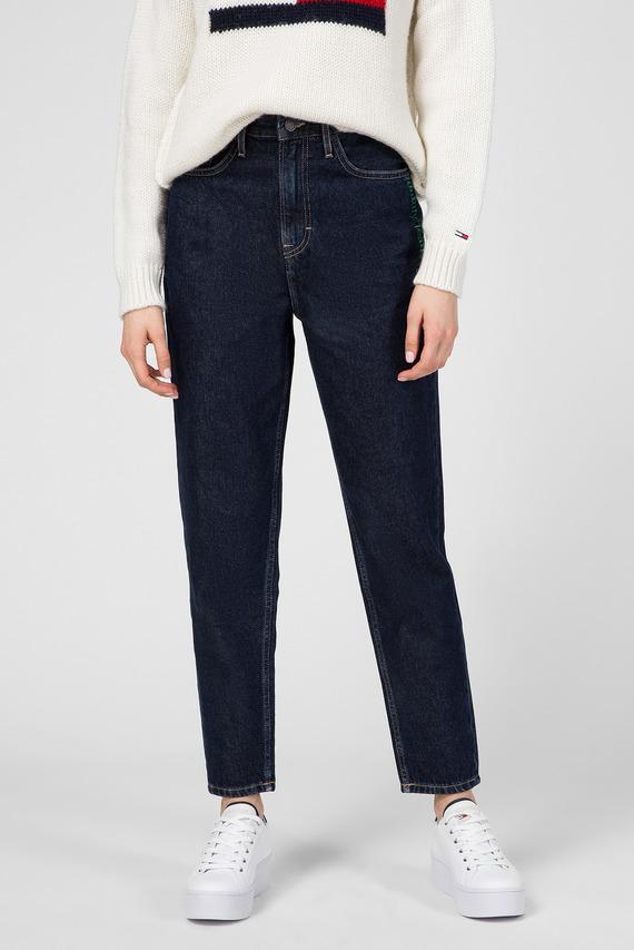 Женские темно-синие джинсы MOM JEAN HIGH RISE TAPERED