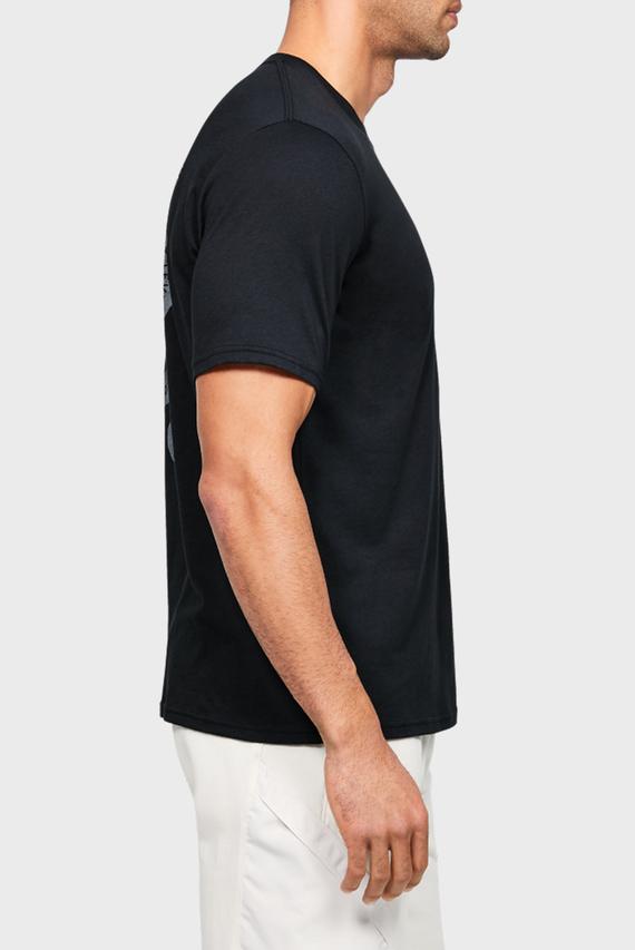 Мужская черная спортивная футболка Project Rock Snake SS