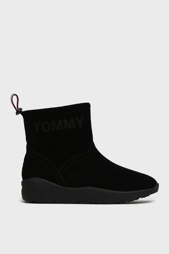 Женские черные замшевые ботинки CORPORATE ELASTIC HYBRID