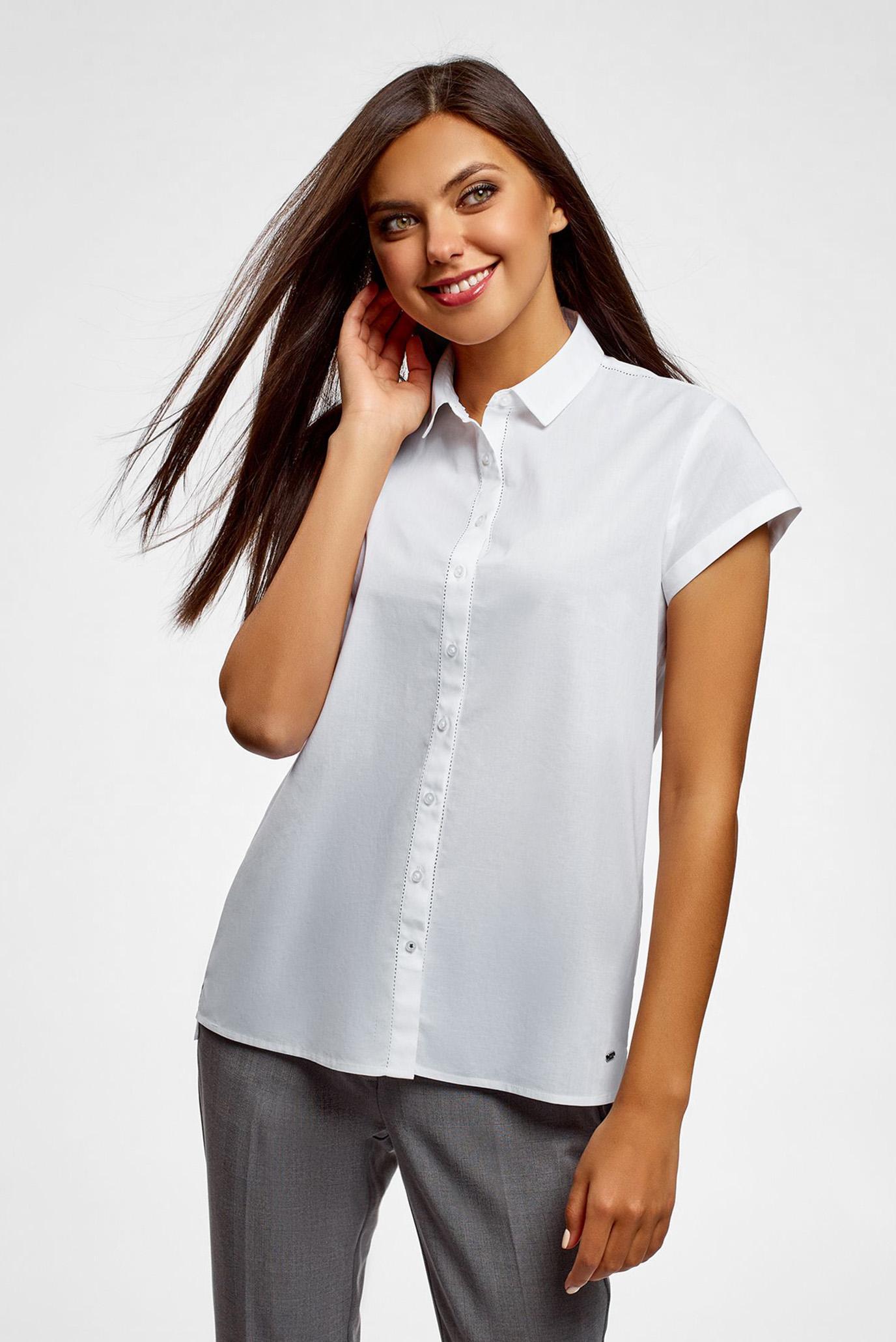 b24d8930ed9df39 Купить Женская белая рубашка Oodji Oodji 13K11001/46401/1000N – Киев,  Украина. Цены в интернет магазине MD Fashion