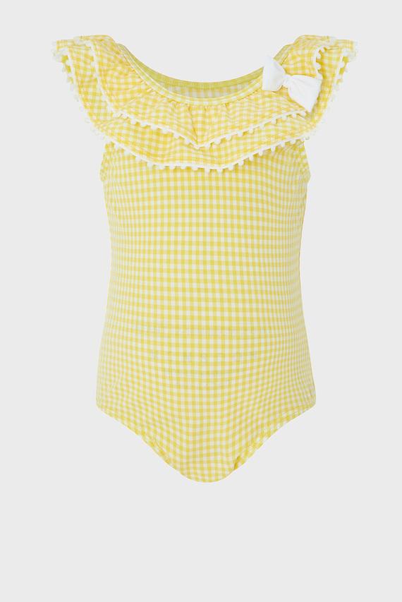 Детский желтый купальник Baby Sunflower Bow Swimsuit