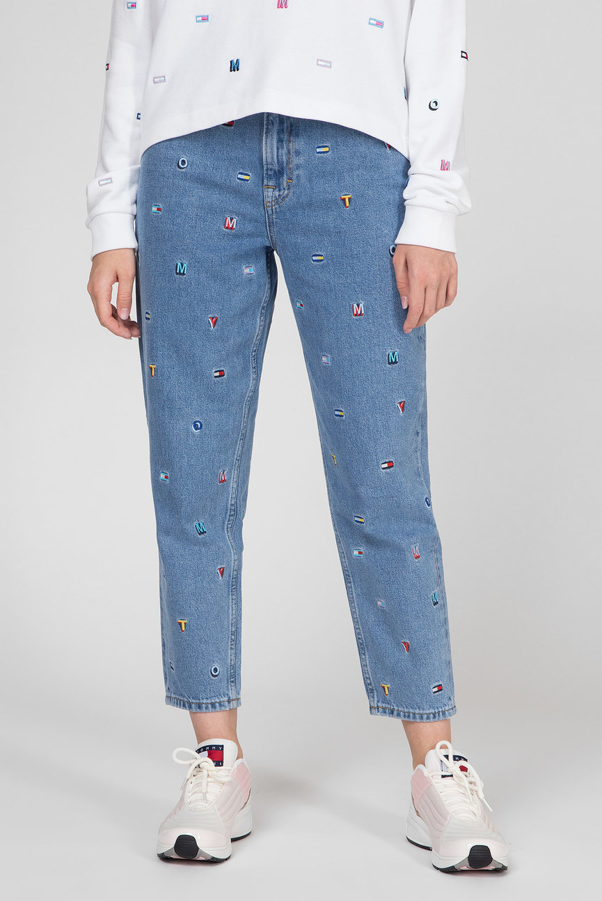 Женские голубые джинсы HIGH RISE TAPERED TJ 2004  GRTLB