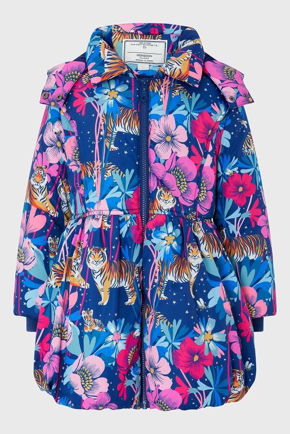 Детская синяя куртка Tamara Tiger Padded