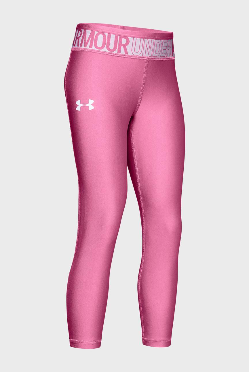 Детские розовые тайтсы Armour HG Ankle Crop