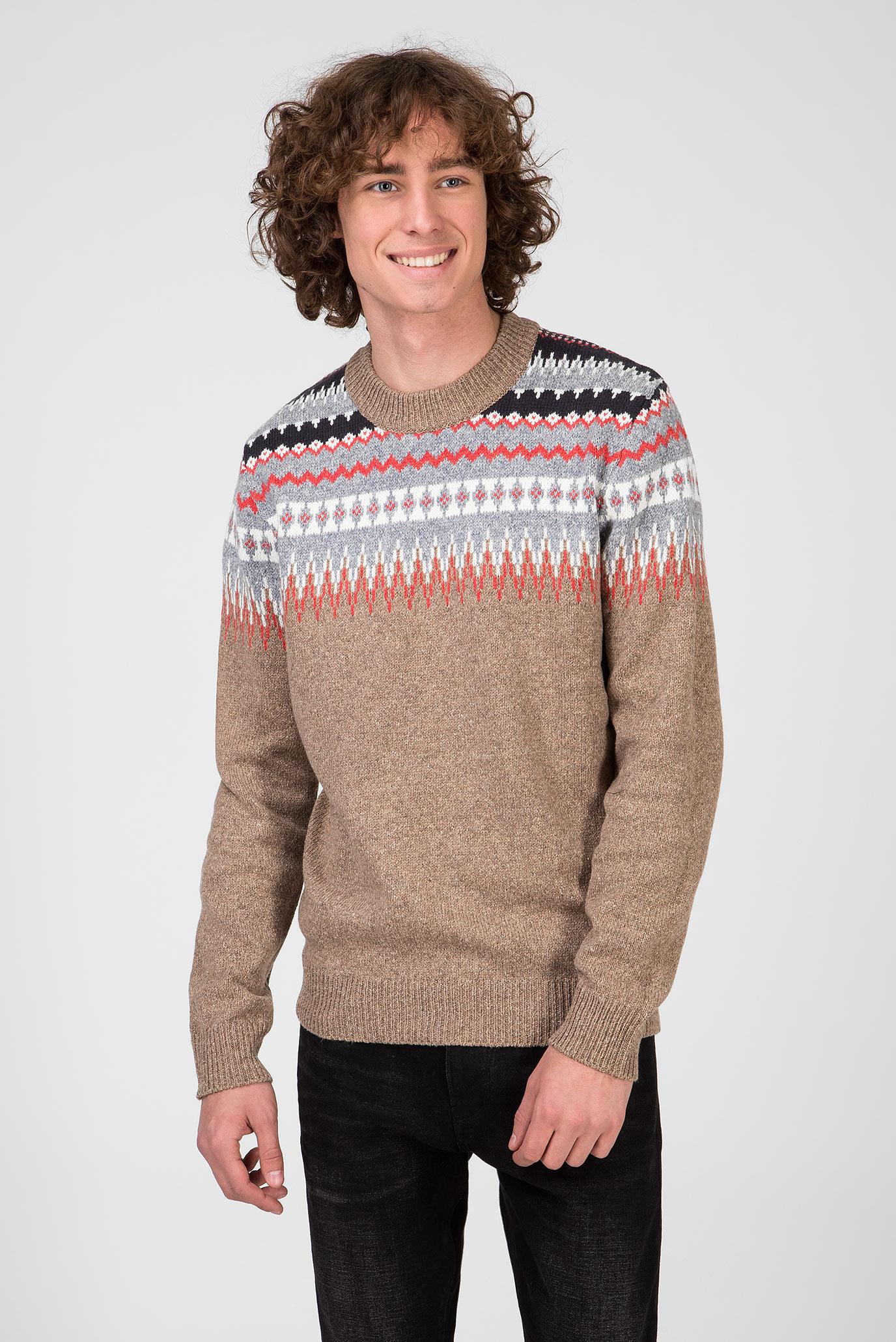 Мужской свитер с орнаментом PETER 1